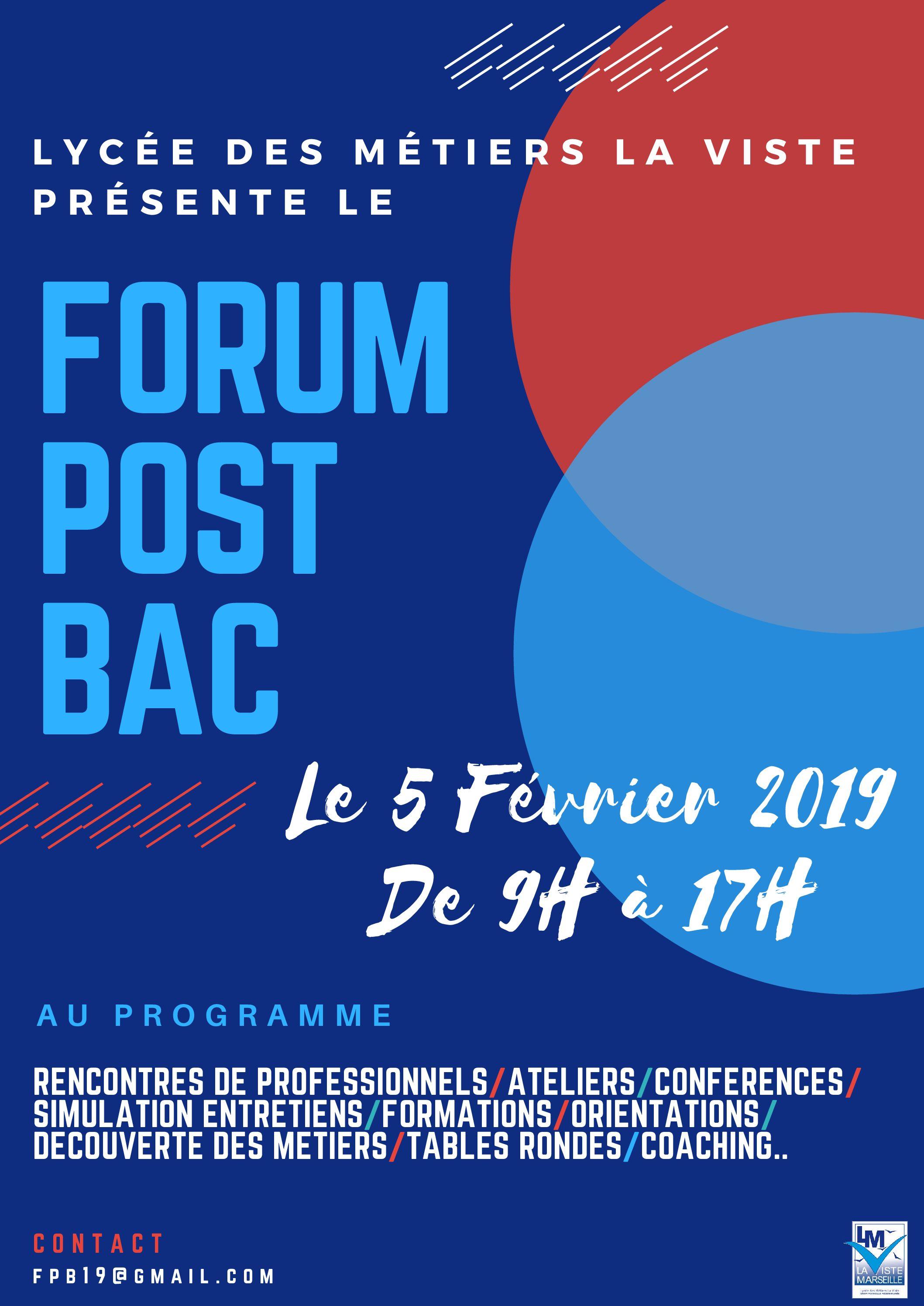 Forum emploi lycée des Métiers de La Viste (13015) – Mardi 5 février 2019