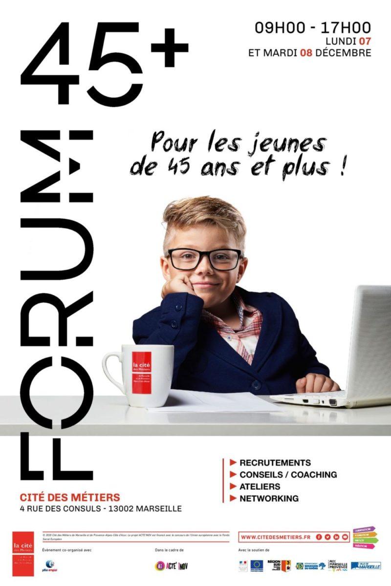 Comme chaque année, Générations Solidarités participera au forum 45+ organisé par la Cité des Métiers Marseille. Elle assurera les simulations d'entretien en visio la journée du 8 décembre 2020